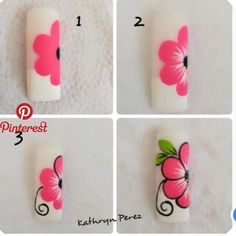 Extend style to your fingertips by using nail art designs. Donned by fashionable. - Extend style to your fingertips by using nail art designs. Donned by fashionable stars, these kinds - Daisy Nail Art, Pink Nail Art, Flower Nail Art, Blue Nail, Nail Art Hacks, Nail Art Diy, Diy Nails, Manicure, Nail Art Designs Videos