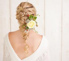 Up, down, braided, with accessories? There are so many ways to style your strands and it has to be just right on the big day. Rest easy. We're here to help.