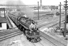 B&O Passenger Trains | photo taken from the tower looking north b o train 233 on the big four ...