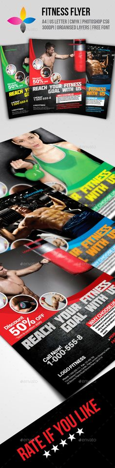 Fitness Flyer Flyer template, Concerts and Flyers - fitness flyer