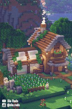 Minecraft House Plans, Minecraft Mansion, Minecraft Houses Survival, Easy Minecraft Houses, Minecraft House Tutorials, Minecraft House Designs, Amazing Minecraft, Minecraft Tutorial, Minecraft Blueprints
