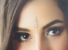 Gold Long Beautiful Bindi In One Pack  Stud With by Beauteshoppe