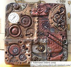 Polymer Clay Steampunk Tin by Valeriana Solaris, via Flickr