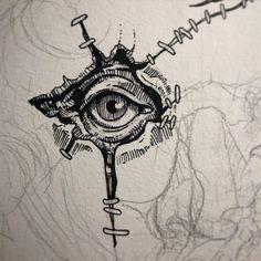 It's about to get real gross y'all. Dark Art Drawings, Art Drawings Sketches, Tattoo Drawings, Tattoo Sketches, Tatoo Art, Body Art Tattoos, Arte Obscura, Arte Sketchbook, Creepy Art