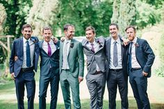 love this color palette! Tips for Making Mismatched Groomsmen Outfits Work