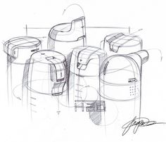 composition of sketches - visually, it is more interesting to look at than a line of sketches.