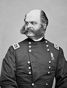 Ambrose Burnside (Union). One of the many Union generals who was removed from command after a shocking defeat against Lee's Confederates, in his case at the Battle of Fredericksburg. On the bright side, sideburns are named after him.