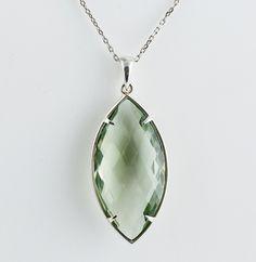 Green Amethyst Pendant | Pave Fine Jewelry Design $325