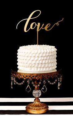 'love,' wedding cake topper #etsy #lasercut