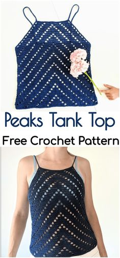Adorable Summer And Winter Accessories Free Crochet Pattern - Diy & Craft Crochet Tank Tops, Crochet Summer Tops, Crochet Tunic, Crochet Clothes, Quick Crochet, Unique Crochet, Diy Crochet, Top Pattern, Free Pattern
