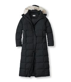 "Considering ways to stay warm. L.L. Bean ""Ultrawarm Coat, Long"" in black or ""Colonial Blue."""