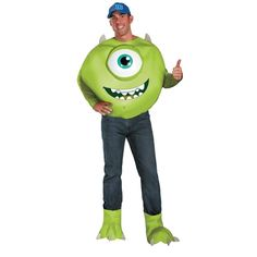 Deluxe Monsters University Mike Halloween Costume for Men