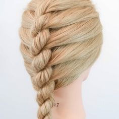 Easy Hairstyle Video, Easy Hairstyles For Long Hair, Braids For Long Hair, High Bun Hairstyles, Braided Hairstyles Tutorials, Headband Hairstyles, Diy Hairstyles, Hair Up Styles, Medium Hair Styles