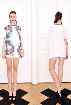 Kata Szegedi SS 2013 Fish Print, High Neck Dress, Spring Summer, Lifestyle, Model, How To Make, Photography, Dresses, Fashion