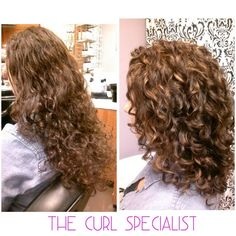 At The Curl Specialist, we utilize the highest quality products and industry leading techniques to offer premium services including Certified Hair Cutting Techniques, Keratin Defrizzing Treatments and Hair-Colouring services. Our philosophy is to listen a Medium Hair Cuts, Medium Hair Styles, Curly Hair Styles, Permed Hair Medium Length, Shoulder Length Curly Hair, Medium Curls, Haircuts For Curly Hair, Wavy Hair, Curly Hair Layers
