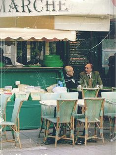 Paris Photography  Old Men at a Cafe 8x10 Print by metroline6