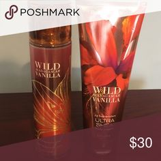 Bath and Body Works Wild Madagascar Vanilla Brand New lotion and spray Accessories