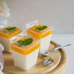 Recette Mousse de fromage blanc sous coulis à l'orange au Thermomix© (facile, rapide)