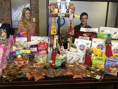 Members of the Galetti PR Team with the donations collected.