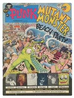 """The Punk Magazine was founded in 1975 and is considered the propagator of the word punk for the music genre. Until 1979, 17 issues of the fanzine published. In an issue from 1976, there is the photo comic """"Mutant Monster Beach Party"""" by John Holmstrom, the co-founder of the publication was. In the comic Joey Ramone, Debbie Harry and Andy Warhol work with."""
