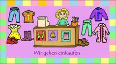 Estos videos son bonitos para los peques... hay varios Deutsch lernen: Verb kaufen + Akkusativ