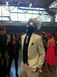 Kakashi. Look at that sassy Sasuke in the background.