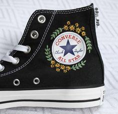 The place to buy and sell all handmade - Cute Outfits Converse Noir, Converse Shoes, Custom Converse, Women's Converse, Galaxy Converse, Shoes Sneakers, Painted Clothes, Painted Shoes, Painted Vans