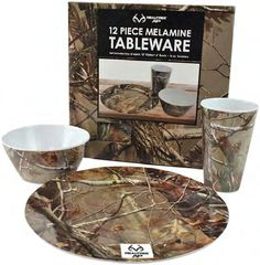 Camo Melamine Tableware Set Mossy Oak Set Includes 4 each Plates,Bowls,Tumblers. Plates are 10 inch diameter. Set is in attractive Real Tree Mossy Oak pattern. Camo Home Decor, Ap 12, Melamine, Hunting Camo, Country Girl Life, Built In Grill, Wholesale Home Decor, Realtree Camo, Outdoor Kitchen Design