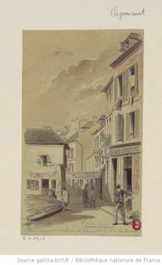 Commencement de la rue de Norvins sur la place du Tertre -Jules-Adolphe Chauvet - 1879