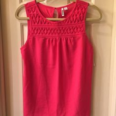 Elle NWT tank size M NWT tank has textured detail on front and a back button closure Size M tag attached no flaw Elle Tops Tank Tops