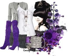 """""""I love purple"""" by candy420kisses on Polyvore"""