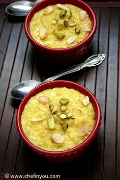 Indian brown rice pudding. Dessert with whole grains - win! #dessert