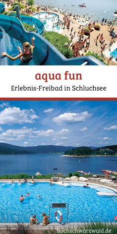 Aqua fun - La piscine extérieure sur Schluchsee: toboggan géant, aire de jeux d& grande pelouse - Outdoor Camping, Camping Ideas, Trailers Camping, Camping Holiday, Travel Route, Outdoor Swimming Pool, Romantic Travel, Travel Pictures, Selena