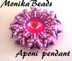 Aponi pendant  With 3holes trinity beads