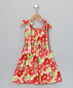 Red & Green Flower Dress