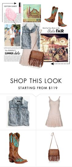"""""""Kick Up Your Boots at the State Fair"""" by diane-888 ❤ liked on Polyvore featuring Oris, J.Crew, Dolce&Gabbana, Ariat, Yves Saint Laurent, statefair and summerdate"""
