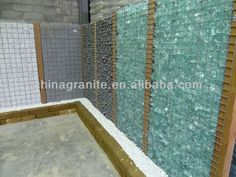 ocean blue glass rocks for gabion