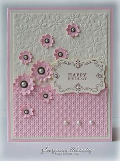 two different embossing patterns (I have both to these...Will have to make this card!)