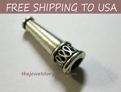 20 pcs  Antique Silver bead caps telescope 20x7mm by thejewelstory, $7.00