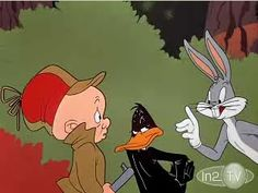 Elmer Fudd, Daffy Duck and Bugs Bunny.It's Rabbit season! No, it's DUCK season. Classic Cartoon Characters, Looney Tunes Characters, Favorite Cartoon Character, Classic Cartoons, Iconic Characters, Daffy Duck Cartoons, Old Cartoons, Funniest Cartoons, Cartoon Photo