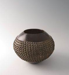 "Southern African, Ukhamba, Zulu beerpot, Amasumpa technique, possibly melmoth region, clay, 7 x 9.5 x 9.5"""