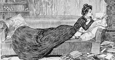 """gdfalksen:"""" A classic Gibson Girl, and a perfect Varanus image.Text: """"She looks for relief among some of the old ones. La Fille Gibson, Ink Illustrations, Illustration Art, Charles Dana Gibson, Feel Good Books, Better Books, Gibson Girl, Woman Reading, Reading Art"""