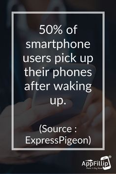 According to #ExpressPigeon, if you're like half of the #smartphone users out there, you might have checked  your #phone right away. #marketing #digitalmarketing #appstore #ios #android #mobileapps #Aso #growthhacking #appinstalls #indiedevs #gamedev #Apple #socailsharing App Marketing, Digital Marketing, Best Mobile, Mobile App, App Promotion, Growth Hacking, Aso, Smartphone, Android