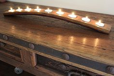 Wine Barrel 9 Candle Holder Made From Recycled Oak Wine B...