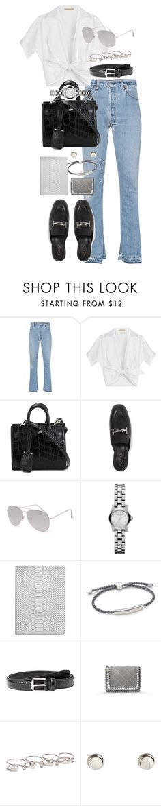 """Untitled #1026"" by marissa-91 ❤ liked on Polyvore featuring RE/DONE, Michael Kors, Yves Saint Laurent, Tod's, With Love From CA, Marc by Marc Jacobs, GiGi New York, Monica Vinader, MANGO and STELLA McCARTNEY"