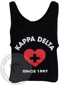 Kappa Delta Lifeguard Tank by Adam Block Design | Custom Greek Apparel & Sorority Clothes | www.adamblockdesign.com