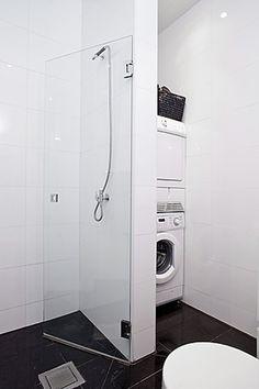 1000 images about en el ba o on pinterest small laundry - Instalar lavadora en bano ...