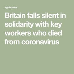 Britain falls silent in solidarity with key workers who died from coronavirus — The Times and The Sunday Times The Sunday Times, Stop Working, Boris Johnson, Return To Work, Bobs, Britain, Key, Unique Key, Bob Hairstyle