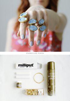 DIY Enamelled Rings