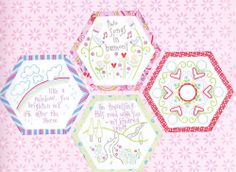 Best Friends Forever 8 - stitchery BOM hexagons - PATTERN + preprinted fabric | eBay